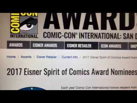San Diego Comic Con 2017 - Eisner Spirit Of Comics Award Has SF Bay Area Rep