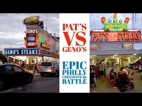 The Best Philly Cheesesteak Geno's Steaks Vs Pat's King Of Steaks