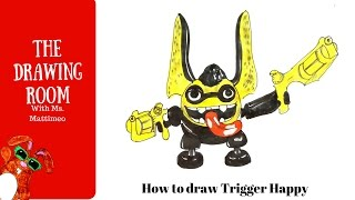 how to draw trigger happy from skylanders