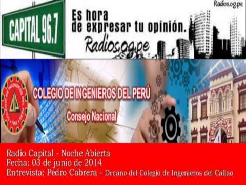 140603 Radio Capital Pedro Cabrera CIP Callao