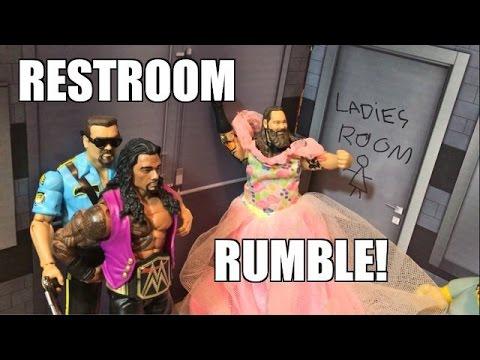 GTS WRESTLING: RESTROOM RUMBLE! WWE Mattel Figure Match Animation PPV Event