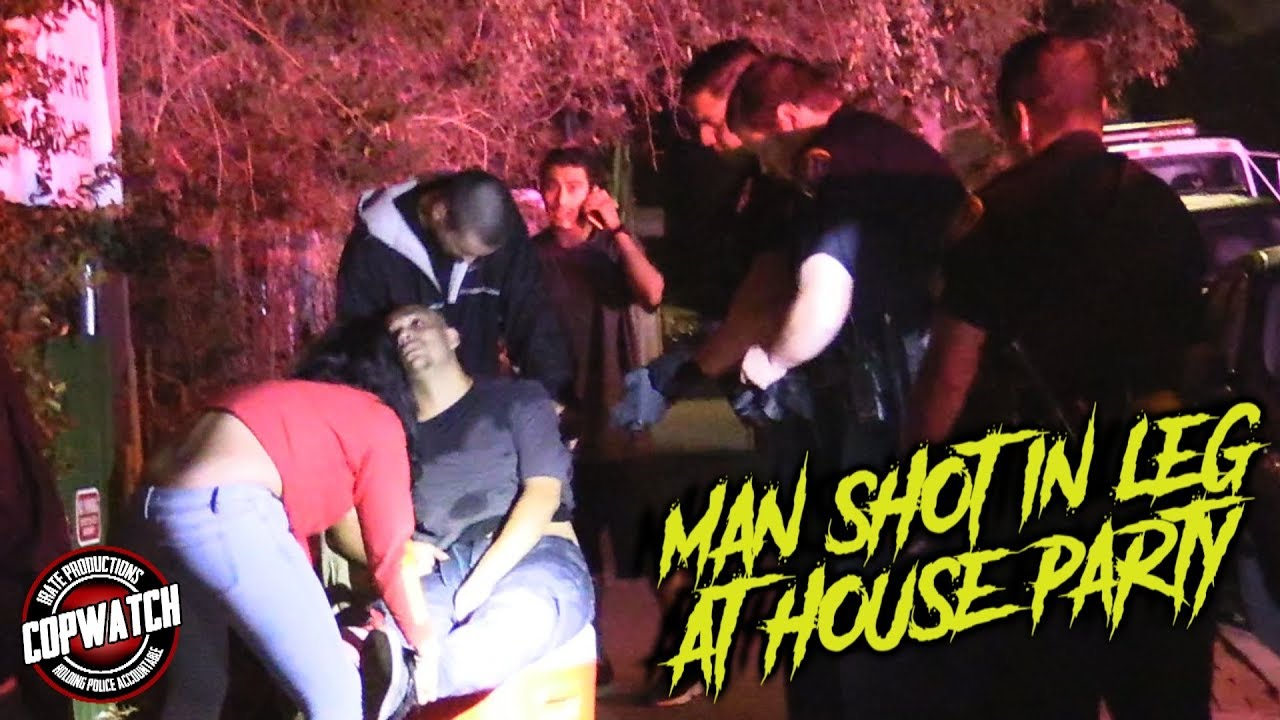 Copwatch | Man Shot in the Leg at Party | 3 Detained for Over 2 Hours