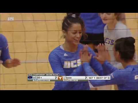 #2 Texas  vs UC Santa Barbara (Second Round) 2019 NCAA Women's Volleyball Tournament  Dec 6, 2019