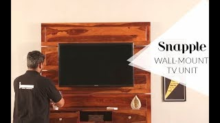 Tv Units: Buy Snapple wall Mounted tv unit & stand Starting Rs 26,449
