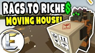 Video MOVING HOUSE! | Unturned RP Rags to Riches Reboot #5 - Forced to move (Roleplay) download MP3, 3GP, MP4, WEBM, AVI, FLV Februari 2018