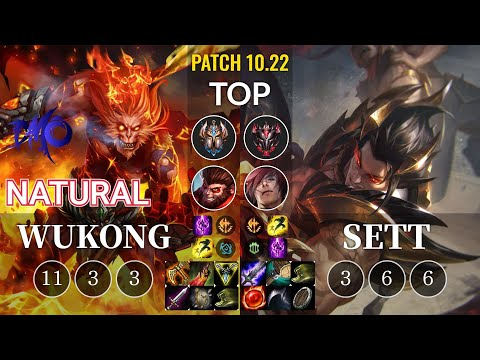 DMO Natural Wukong vs Sett Top - KR Patch 10.22
