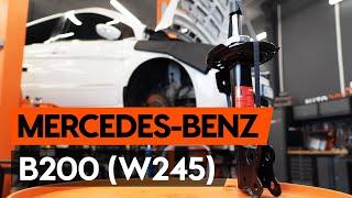 Kā nomainīt priekšējās piekares amortizatora statni MERCEDES-BENZ B200 (W245) [AUTODOC]