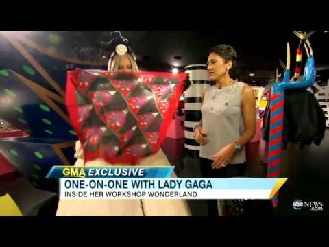 Lady Gaga Interview: Costumes in Barney's - Exclusive Tour of 'You and I' Singer's Charitable Shop