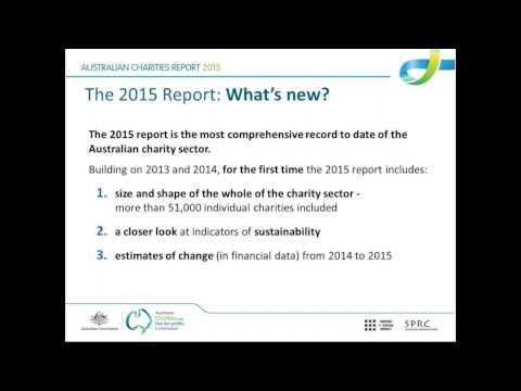 Webinar - Australian Charities Report 2015 - 18 April 2017