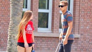 Blind Man Picking Up Girls