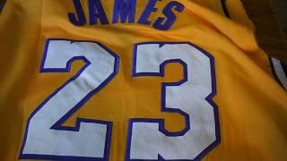Баскетбольная форма Nike NBA Los Angeles Lakers №23 Lebron James желтая магазин Basket Family