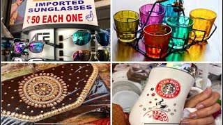 Magic Pillows/ Gifts & Household Items/ Crockery Etc. At Crawford Market  Mumbai Street Shopping
