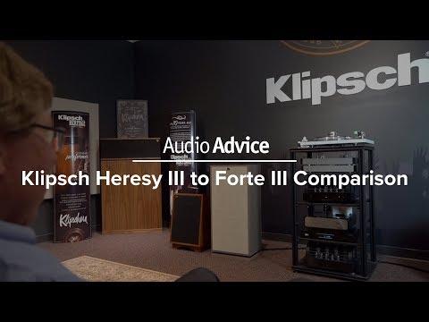 Klipsch Hersey III vs  Klipsch Forte III Speakers   Audio