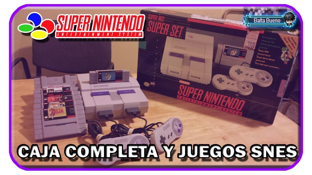 Apertura Unboxing Del Super Nintendo Y Mostrando Todos Mis Juegos De
