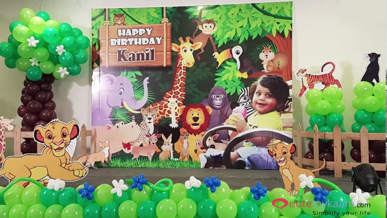 Best ideas for Jungle Theme Birthday Party  Jungle Theme Birthday Party  Decorations  Quotemykaam