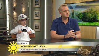 12-åriga Miles lever i en åttioårig kropp - Nyhetsmorgon (TV4)