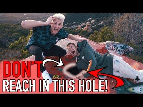 Thumbnail: WHAT'S IN THIS HOLE?! HE REACHED FOR IT!