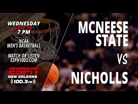 McNeese Cowboys @ Nicholls Colonels (Men's Basketball)