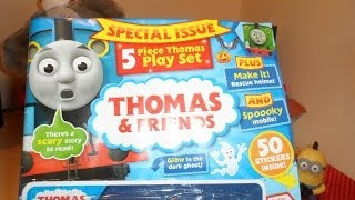 Review Of Thomas The Tank Engine And Friends Comic Magazine  Free Toy Train Set With Annie