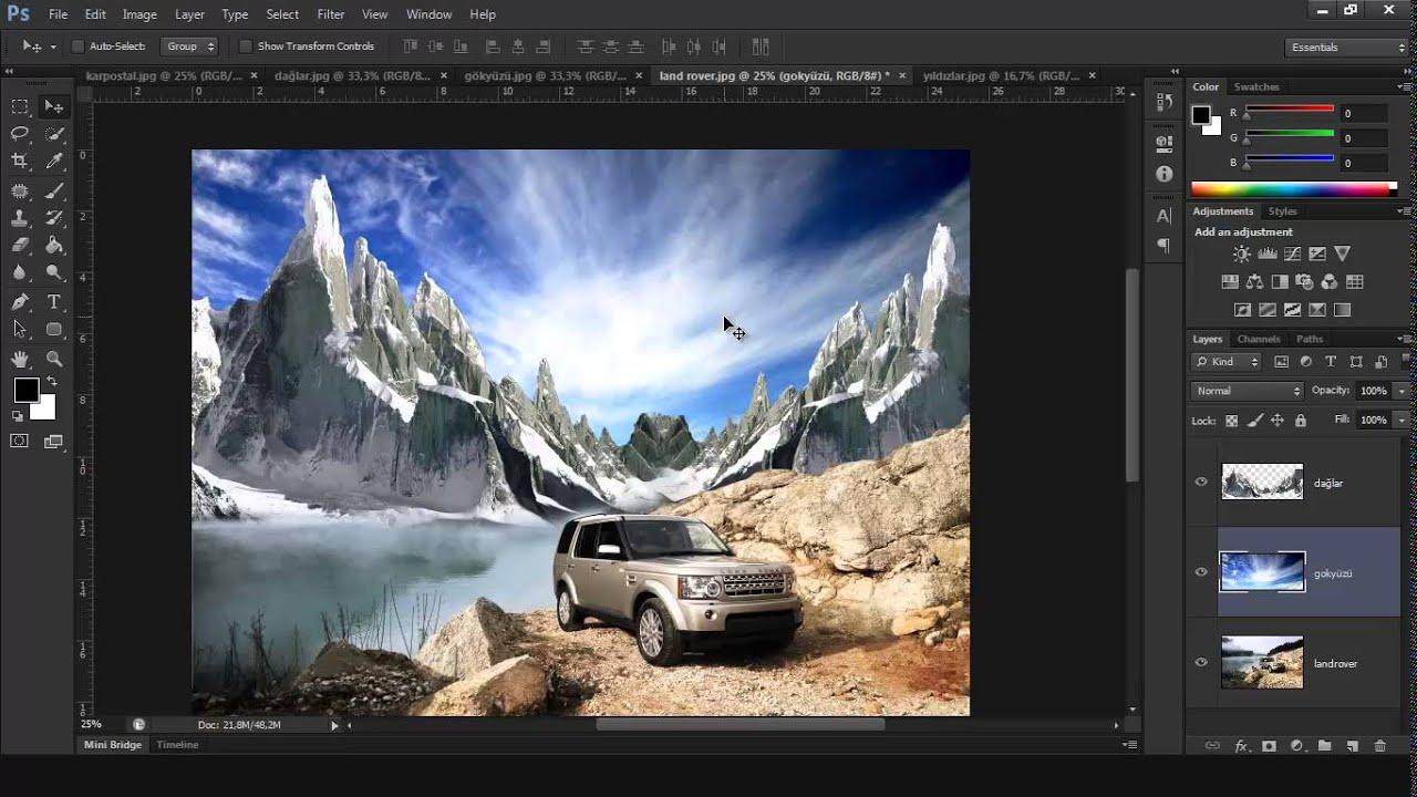 Photoshopta kolaj nasıl yapılır