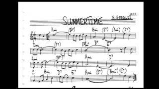 Summertime Play along - Backing track (C  key score violin/guitar/piano)