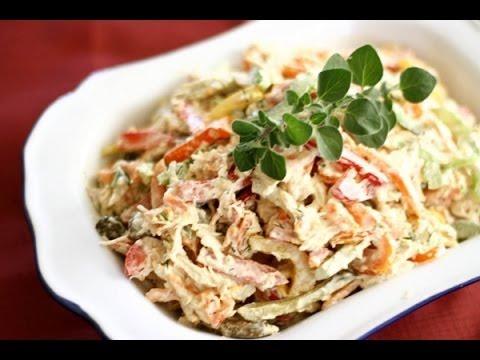 простые салаты с курицей рецепты с фото