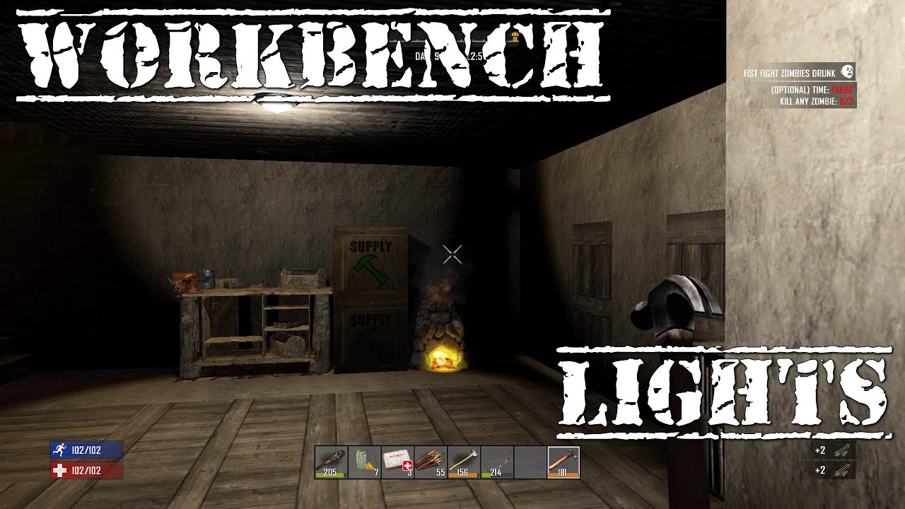 7 days to die ps4 workbench lights s2 ep7 youtube for Cocinar en 7 days to die ps4