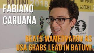 Fabiano Caruana on beating Shakhriyar Mamedyarov in the USA-Azerbaijan match