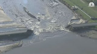 Heavy rainfall causes two dams to fail in Michigan