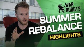 War Robots SUMMER REBALANCE Highlights [2019] (Update 5.3)