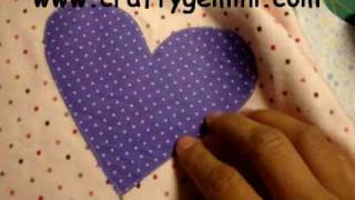 How to do Fusible Applique or Raw Edge Applique Tutorial