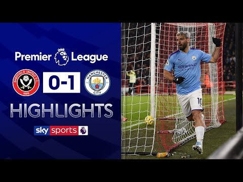 Aguero scores winner after Jesus penalty saved | Sheff Utd 0-1 Man City | Premier League Highlights