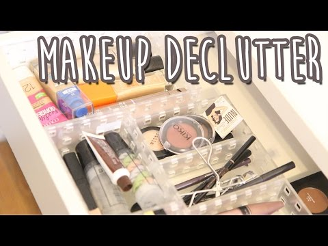 HUGE Makeup Collection Declutter | Living Minimally
