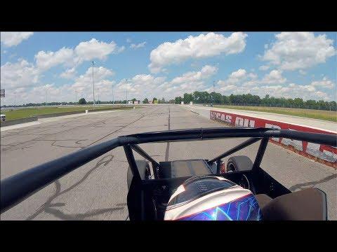 Testing A Silver Crown Car At Lucas Oil Raceway