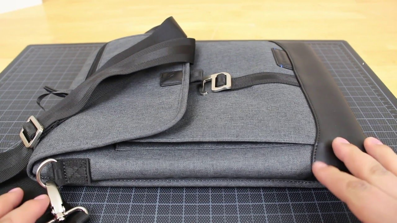 Brenthaven Collins Vertical Messenger Bag (Graphite) - YouTube 8e97fe4560c41