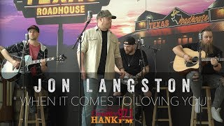 Jon Langston   When It Comes To Loving You acoustic