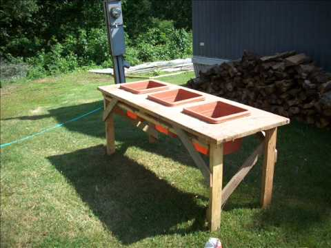 Waist High Garden Table I Built Used An Old Made Years Ago Still Need To Paint