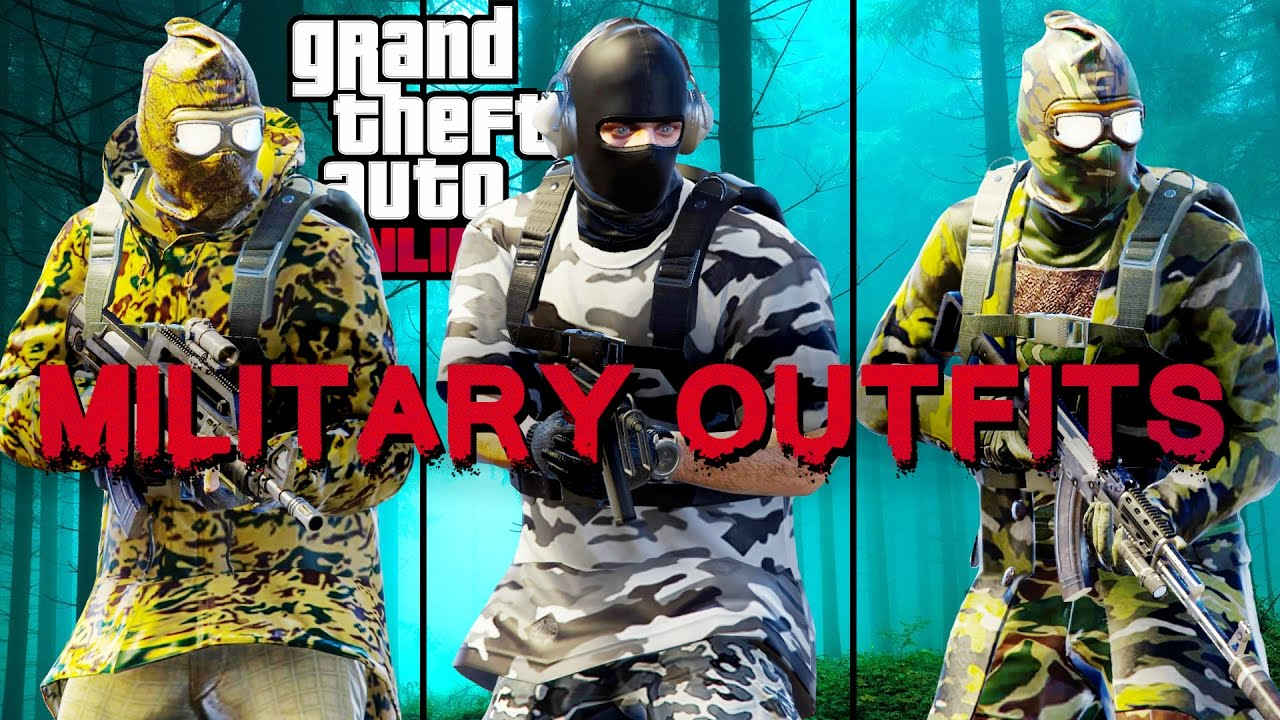 GTA 5 | BEST MILITARY OUTFITS. (How to be a military soldier in GTA Online) - YouTube