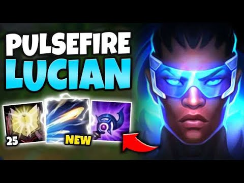 *NEW* PULSEFIRE LUCIAN SKIN IS BEAUTIFUL! FULL AP LUCIAN MID NUKES WITH R - League of Legends