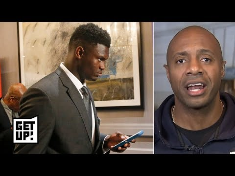 Zion Williamson wasn't happy, looked surprised when Pelicans got top pick - Jay Williams | Get Up!
