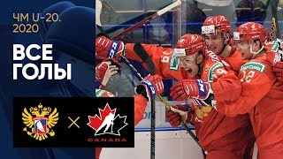 28.12.2019 Россия (U-20) - Канада (U-20) - 6:0. Все голы