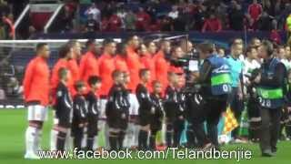 Manchester United 2 - VfL Wolfsburg 1 Players entrance, Champions League Anthem