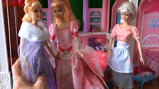 Сериал с куклами Барби, Челси история Золушки, злые сестры в доме мечты волшебный сон, серия 413
