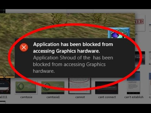 application chrome.exe has been blocked from accessing graphics hardware