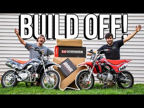 Building the Worlds BADDEST PIT BIKES! *BUILD OFF CHALLENGE*