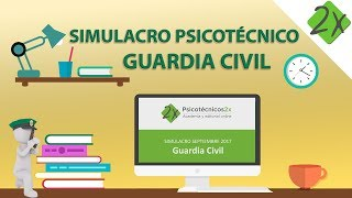 Test psicotécnico Guardia Civil corregido