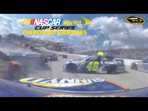 2016 NASCAR Sprint Cup Series On-board Crashes (part 1)