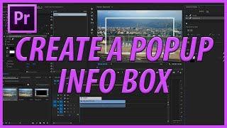 Adobe Premiere Pro CC Popup Bilgi Kutuları Oluşturma (2017)