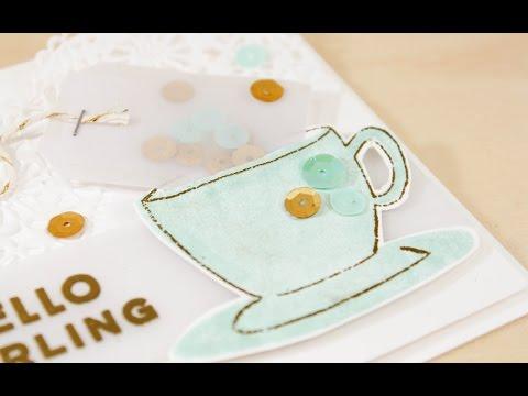 Tea Time Card - Altering Die Cuts