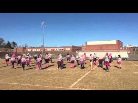 West Wilkes Middle School Powder Puff Cheerleaders 2014